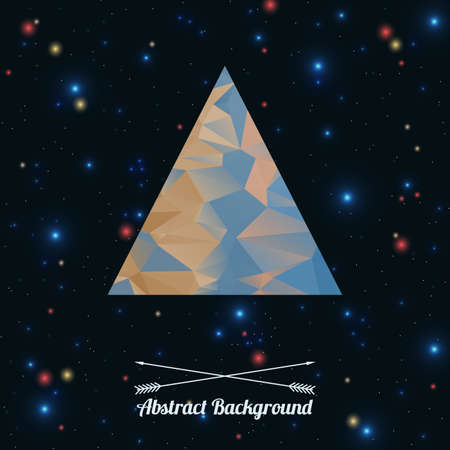 Vector abstract hipster background with triangle Vector