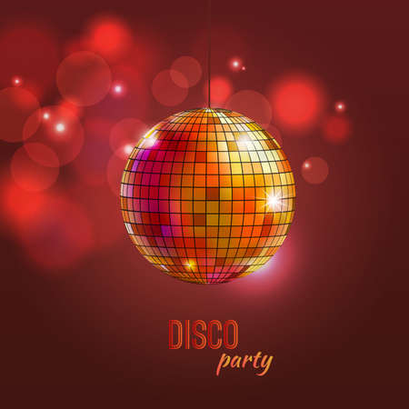 Vector colorful illustration of disco ball Vector