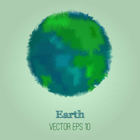Vector colorful illustration of abstract Earth Vector