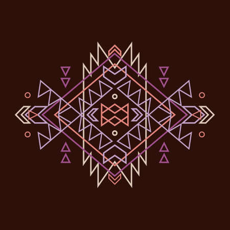 indian art: Vector colorful decorative ethnic pattern Illustration