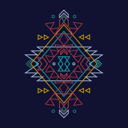 Vecteur coloré motif ethnique décoratif