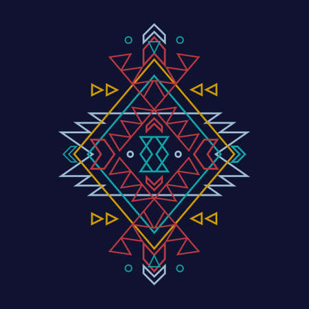 Vector colorful decorative ethnic pattern Vector