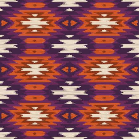 navajo: Vector seamless ikat ethnic pattern