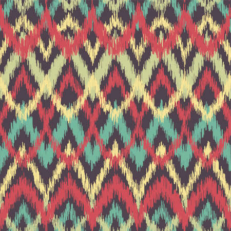 ikat: Vector seamless ikat ethnic pattern