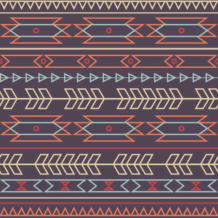 seamless colorful decorative ethnic pattern  イラスト・ベクター素材