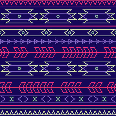 cherokee: seamless colorful decorative ethnic pattern Illustration