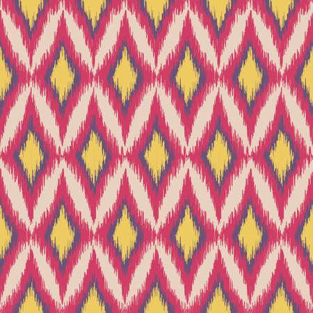 ikat: seamless ikat ethnic pattern