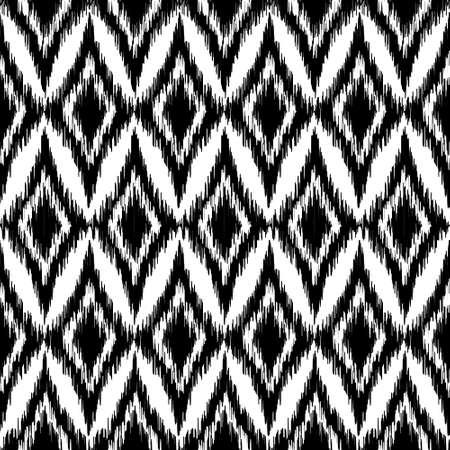 fondo blanco y negro: Vector sin ikat patrón étnico blanco y negro