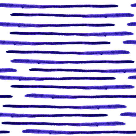 Vector seamless watercolor stripes pattern. Abstract grunge lines background for your design.