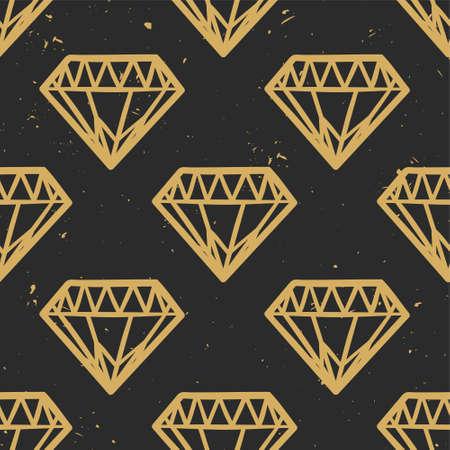 triangulo: grunge patrón sin fisuras con los diamantes de la vendimia. Estilo rock and roll. diseño de última moda de moda. moderna del oro y los colores negros.