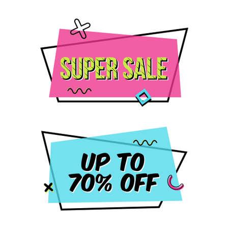 Super sale banners. Illustration