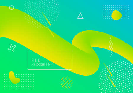 Vector geometric background with modern fluid shapes. Dynamical abstract gradient flowing forms.