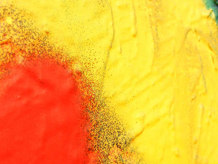 vandalize: Red and yellow shot of urban art
