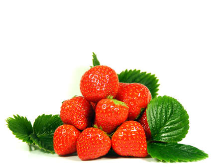 fresh strawberries: Isolated fruits fresh Strawberries