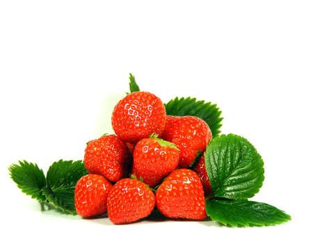 Isolated fruits fresh Strawberries