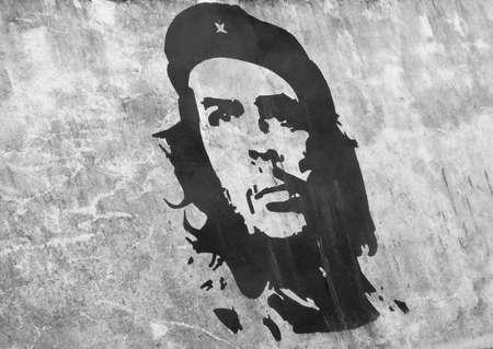 che guevara: Wall art of Che Guevara Stock Photo