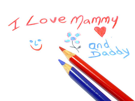 mammy: colorful letters with I love mammy