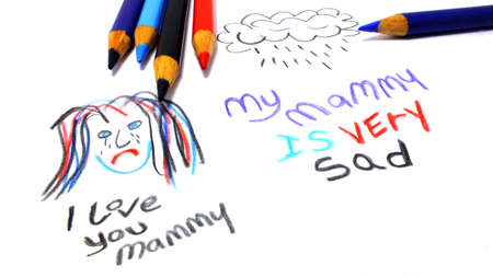 A child s drawing to her mom family ripped apart by divorce  photo