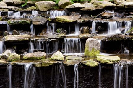 fountain with falling water photo
