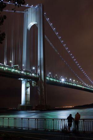 Bridge in New York at night photo