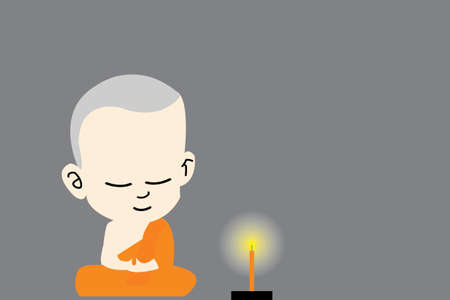 buddist: novices and candle