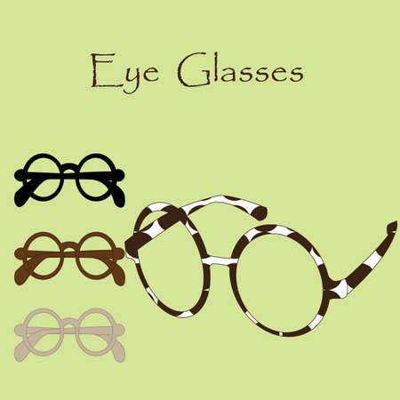 eyewear fashion: Tiger Glasses Illustration