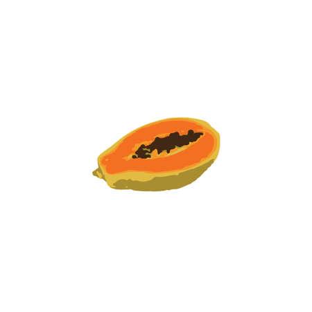 fruitage: Vector illustration of papaya