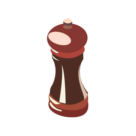 pepper mill: brown pepper mill isolated on white background