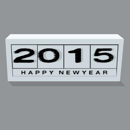 year 2015 Illusztráció