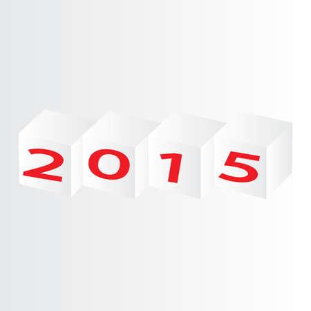 year 2015 Ilustração