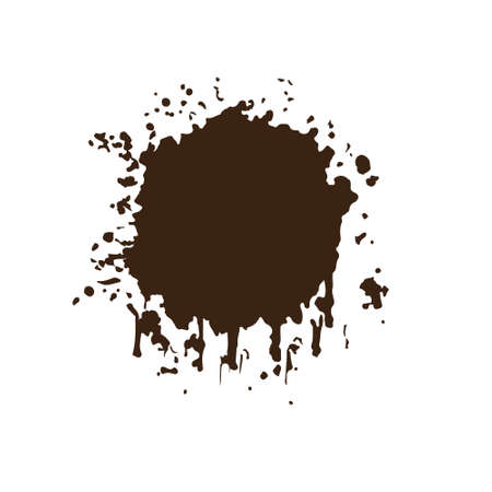Ink splash blot with drops and blot.