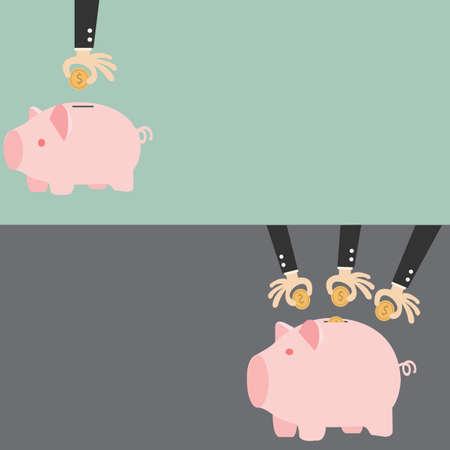 Saving, businessman\