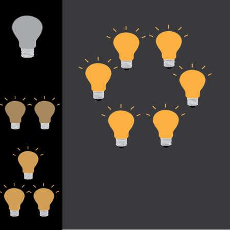 if one ideas equal non good idea .if many ideas equal good idea Ilustrace