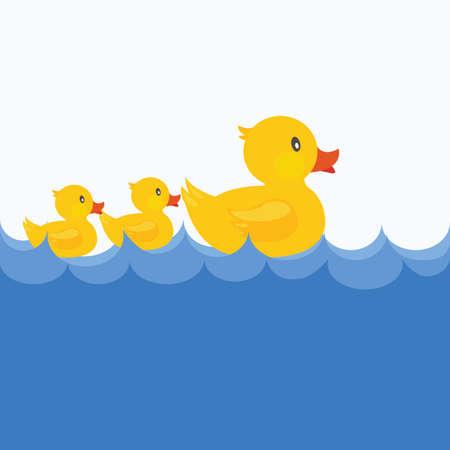 Canard jaune piscine fond