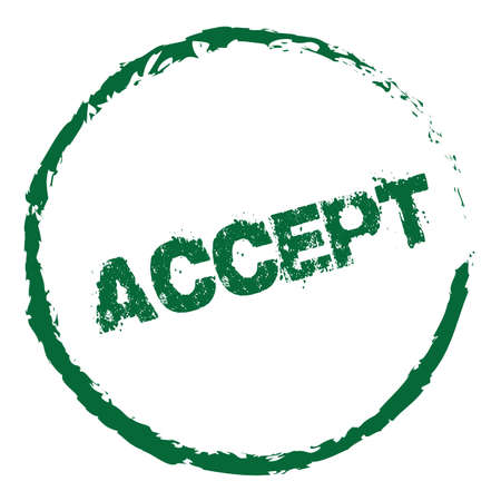 to accept: Accept Stamp