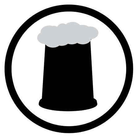 Beer Mug and Beer Glass silhouette collection Illustration