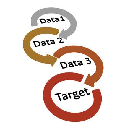 arrow right to target illustration Illustration
