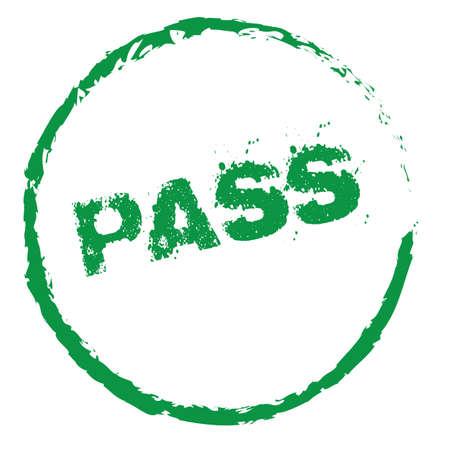 Pass Vector Stamp Vector