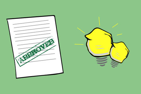 approved: Approved Document and idea icon