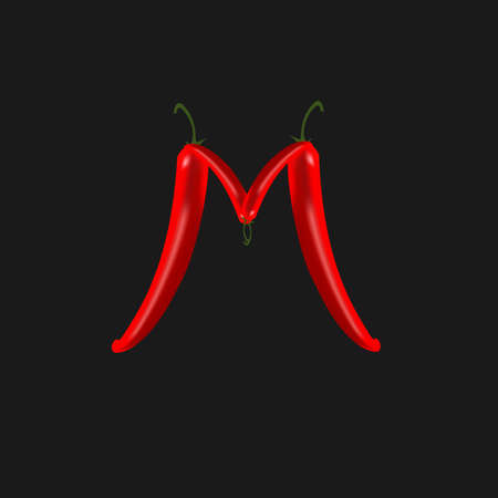 peppers: chilli peppers Illustration