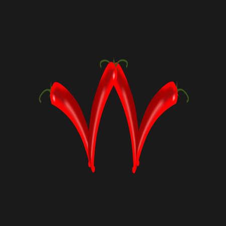 chilli: chilli peppers Illustration