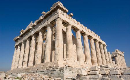 The Parthenon, in Athens Akropolis, Greece Stock Photo - 3365013