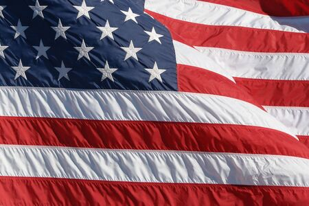 moved: Us flag moved by the wind