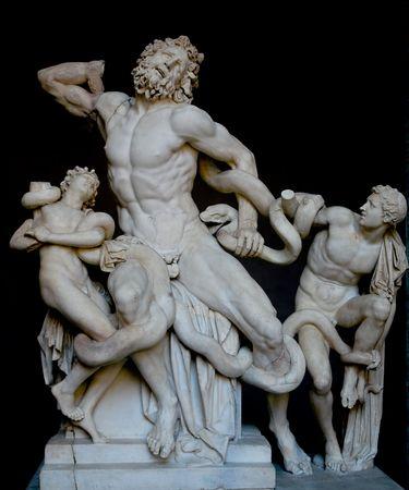 statue grecque: Laocoon et ses fils, c�l�bre statue grecque classique Banque d'images
