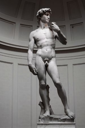 david: The statue of David by italian artist Michelangelo Stock Photo