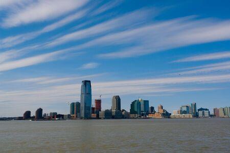 viewed: New Jersey city skyline viewed from Manhattan