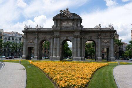 neoclassic: Alcala Gate in Madrid, Spain Stock Photo