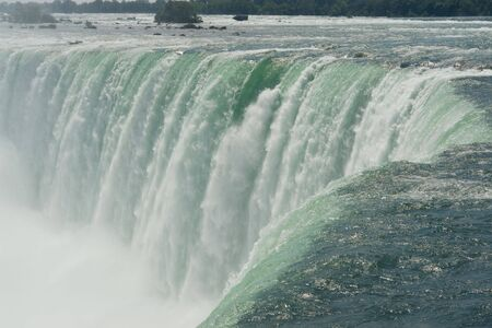 strenght: Canadian Falls in Niagara viewed at the fall point Stock Photo