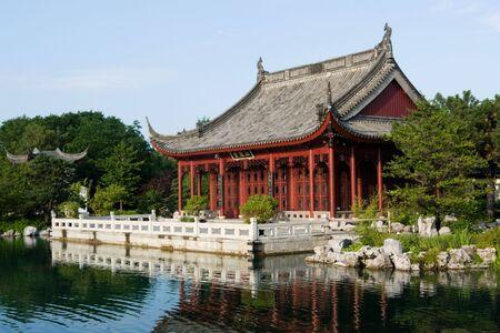 The Chinese garden, best know part of Montreals Botanical Garden photo