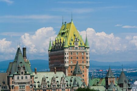 best known: Chateau Frontenac, best known landmark of Quebec, Canada Stock Photo